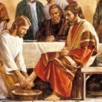 Jesus was Sy dissipels se voete